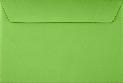 LUX 6 x 9 Booklet Envelopes 50/Pack, Limelight (LUX-4820-101-50)