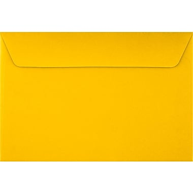 LUX 6 x 9 Booklet Envelopes 50/Pack, Sunflower (EX4820-12-50)