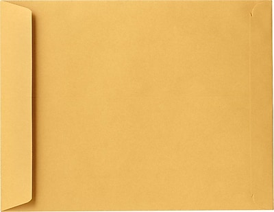 LUX 9 x 12 Open End Envelopes 500/Pack, 24lb. Brown Kraft (8383-500)