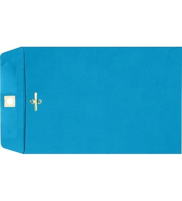 LUX 9 x 12 Clasp Envelopes 100/Pack, Pool (73821-100)