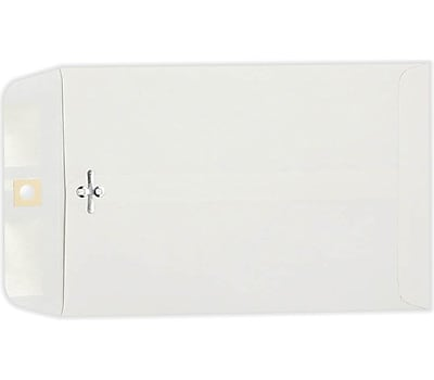 LUX 6 x 9 Clasp Envelopes 500/Pack, 28lb. Bright White (1602-500)