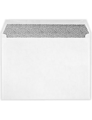 LUX 9 x 12 Booklet Envelopes 50/Pack, White w/Security Tint (49783-50)