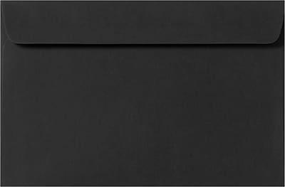 LUX 9 x 12 Booklet Envelopes 50/Pack, Midnight Black (F-6075-B-50)