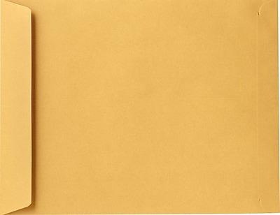 LUX 9 1/2 x 12 1/2 Open End Envelopes 50/Pack, 24lb. Brown Kraft (18093-50)