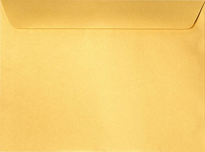 LUX 9 x 12 Booklet Envelopes 50/Pack, Gold Metallic (5350-07-50)