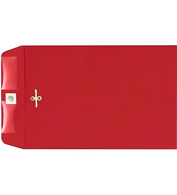 LUX 9 x 12 Clasp Envelopes 100/Pack, Ruby Red (67781-100)