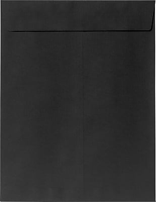 LUX 9 x 12 Open End Envelopes 50/Pack, Midnight Black (80428-50)