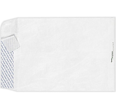 LUX 9 x 12 Open End Envelopes 50/Pack, 14lb. Tyvek (75852-50)