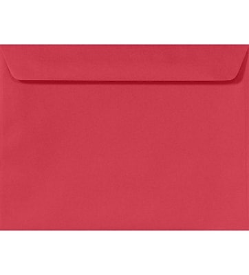 LUX 9 x 12 Booklet Envelopes 50/Pack, Holiday Red (FE-6070-15-50)
