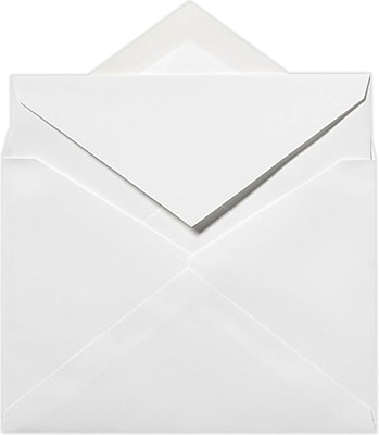 LUX 5 1/2 x 7 3/4 Outer Envelopes 50/Pack, 70lb. Bright White (SIVV916-50)