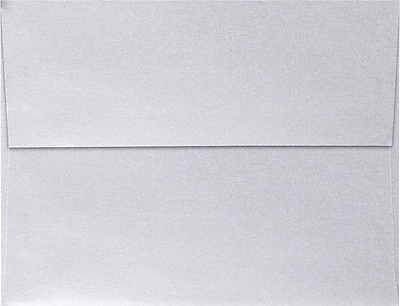 LUX A4 Invitation Envelopes (4 1/4 x 6 1/4) 250/Pack, Silver Metallic (4872-06-250)
