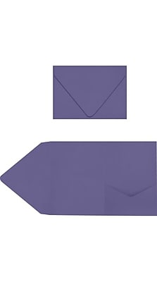 LUX A7 Pocket Invitations 50/Pack, Wisteria (LUX-A7PKT106-50)