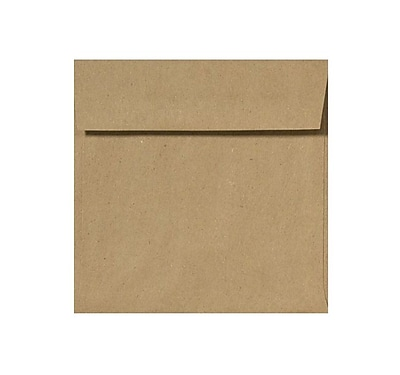 LUX 6 x 6 Square Envelopes 50/Pack, Grocery Bag (8525-GB-50)