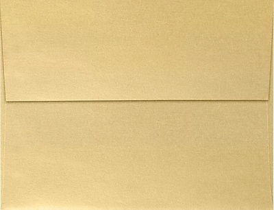 LUX A4 Invitation Envelopes (4 1/4 x 6 1/4) 250/Pack, Blonde Metallic (4872-M07-250)