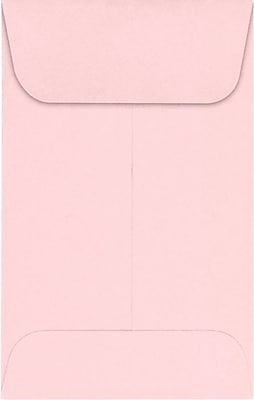 LUX #1 Coin Envelopes (2 1/4 x 3 1/2) 50/Pack, Candy Pink (LUX-1CO-14-50)