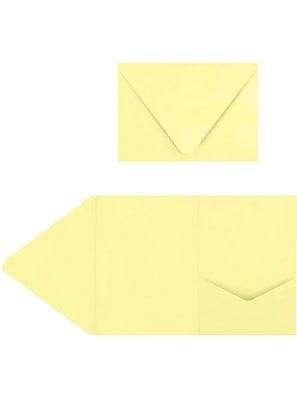 LUX A7 Pocket Invitations (5 x 7) 50/Pack, Lemonade (EX10LEBA707PF50)
