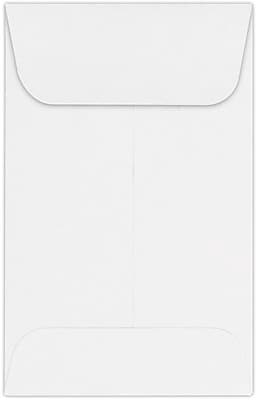 LUX #1 Coin Envelopes (2-1/4 x 3-1/2) 50/Pack, 80lb. Bright White (1CO-80W-50)