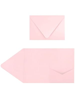 LUX A7 Pocket Invitations (5 x 7) 50/Pack, Candy Pink (EX10LEBA706PF50)