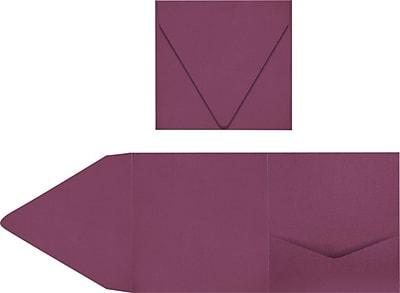 LUX 6 x 6 Pocket Invitations 60/Pack, Vintage Plum (LUX-6PKT104-60)