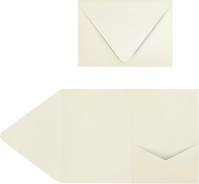 LUX A7 Pocket Invitations (5 x 7) 40/Pack, Natural (EX10LEBA701PF40)