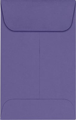 LUX #1 Coin Envelopes (2 1/4 x 3 1/2) 1000/Pack, Wisteria (LUX1CO1061000)