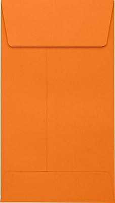 LUX #5 1/2 Coin Envelopes (3 1/8 x 5 1/2) 500/Pack, Mandarin (LUX512CO11500)