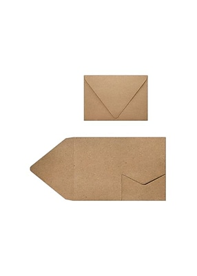 LUX A7 Pocket Invitations (5 x 7) 70/Pack, 18pt. Grocery Bag (A7PKTGB-70)