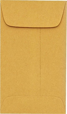 LUX #3 Coin Envelopes (2 1/2 x 4 1/4) 1000/Pack, 24lb. Brown Kraft (94755-1000)