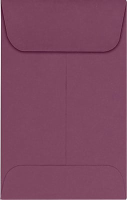 LUX #1 Coin Envelopes (2 1/4 x 3 1/2) 50/Pack, Vintage Plum (LUX-1CO-104-50)