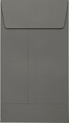 LUX #5 1/2 Coin Envelopes (3 1/8 x 5 1/2) 250/Pack, Smoke (LUX512CO22250)