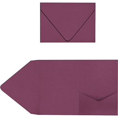 LUX A7 Pocket Invitations 40/Pack, Vintage Plum (LUX-A7PKT104-40)