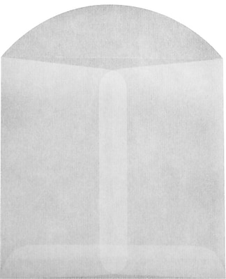 LUX 4 x 4 Open End Envelopes 250/Pack, 30lb. Glassine (GLASS-27-250)