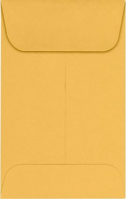 LUX #1 Coin Envelopes (2-1/4 x 3-1/2) 250/Pack, 24lb. Brown Kraft (94680-250)