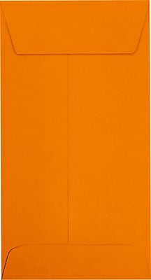 LUX #7 Coin Envelopes (3 1/2 x 6 1/2) 500/Pack, Mandarin (LUX-7CO-11-500)