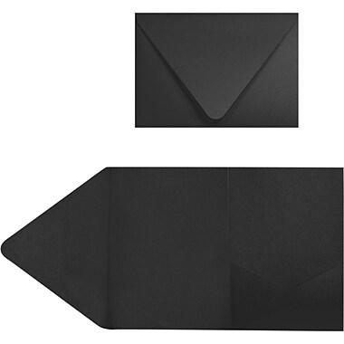 LUX A7 Pocket Invitations (5 x 7) 30/Pack, Midnight Black (EX10LEBA712PF30)