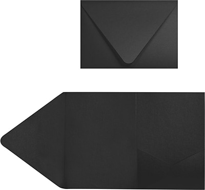 LUX A7 Pocket Invitations (5 x 7) 100/Pack, Midnight Black (EX10LEBA712PF10)