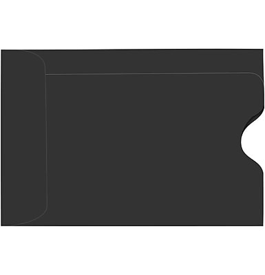 LUX Credit Card Sleeve (2 3/8 x 3 1/2) 250/Pack, Midnight Black (LUX-1801-B-250)