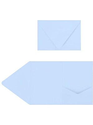 LUX A7 Pocket Invitations (5 x 7) 10/Pack, Baby Blue (EX10LEBA705PF10)