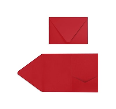 LUX A7 Pocket Invitations (5 x 7) 20/Pack, Ruby Red (EX10LEBA713PF20)