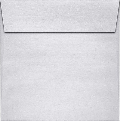 LUX 5 1/2 x 5 1/2 Square Envelopes 250/Pack, Silver Metallic (8515-06-250)