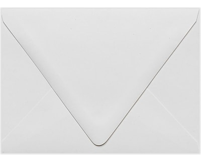 LUX A6 Contour Flap Envelopes (4 3/4 x 6 1/2) 50/Pack, White - 100% Recycled (1875-WPC-50)