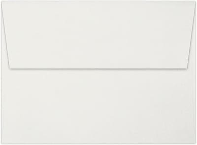 LUX A6 Invitation Envelopes (4 3/4 x 6 1/2) 100% Cotton 50/Pack, Natural White - 100% Cotton (4875-SN-50)