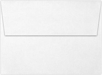 LUX A6 Invitation Envelopes (4 3/4 x 6 1/2) 50/Pack, White Linen (4875-WLI-50)