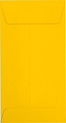 LUX #7 Coin Envelopes (3 1/2 x 6 1/2) 50/Pack, Sunflower (LUX-7CO-12-50)