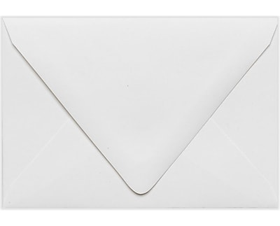 LUX A1 Contour Flap Envelopes (3 5/8 x 5 1/8) 50/Pack, White - 100% Recycled (1865-WPC-50)