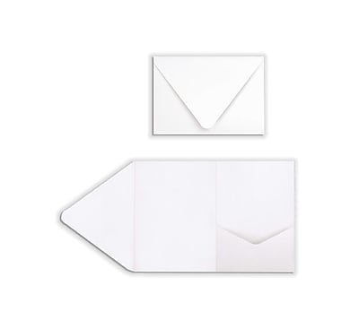 LUX A7 Pocket Invitations (5 x 7) 60/Pack, 100lb. Bright White (EX10LEBA700PF60)