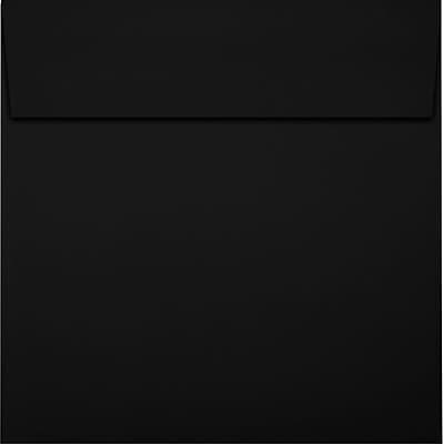 LUX 6 x 6 Square Envelopes 50/Pack, Midnight Black (F-8525-B-50)