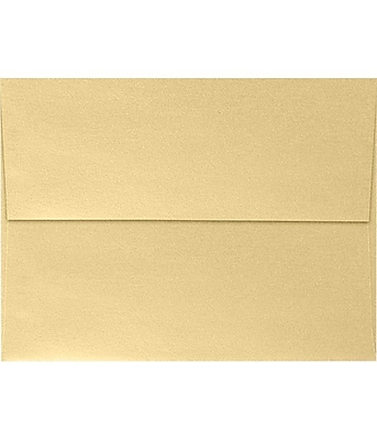 LUX A7 Invitation Envelopes (5 1/4 x 7 1/4) 500/Pack, Blonde Metallic (5380-M07-500)