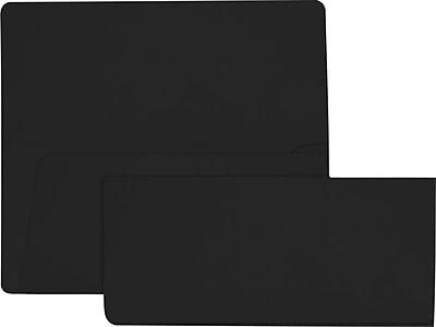 LUX Airline Ticket (3 7/8 x 8 1/2) 50/Pack, Midnight Black (AIR378-B-50)