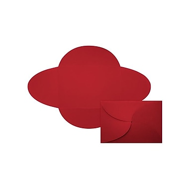 LUX A7 Petal Invitations (5 x 7) 30/Pack, Ruby Red (EX10LEBARE2830)